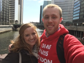 My friend Kristin and I in Chicago!