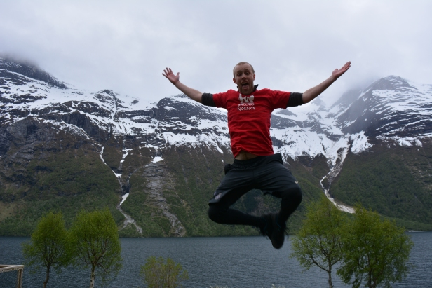 Jumping for joy for at least another week in Norway!!!